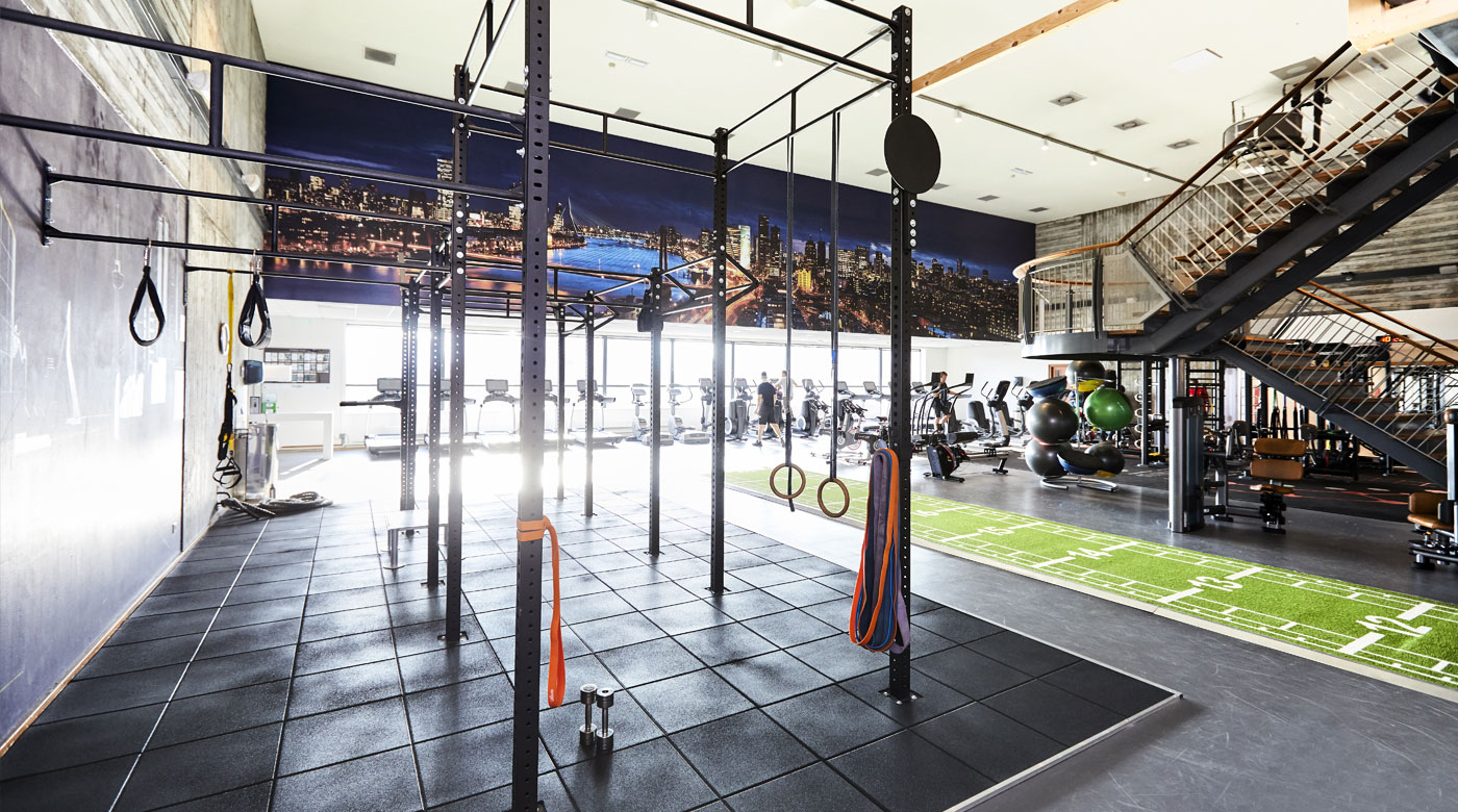 Image of functional area of gym at David Lloyd Rotterdam Centrum